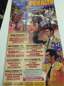 Cartel anunciador de la Feria de Peralta.