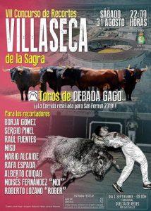 Cartel de Villaseca de la Sagra, donde se lidiarán cuatro de los Cebada Gago que estuvieron destinados a Pamplona.