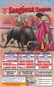 Cartel anunciador de la Feria de Sangüesa.