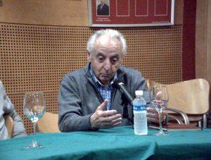 Jesús Zúñiga, hace tres años, durante una charla en el Club Taurino de Pamplona.