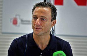 Rafaelillo, el pasado 26 de julio, durante la rueda de prensa que ofreció en Pamplona. Fotografía: Calleja.