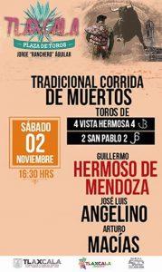 Cartel del festejo mixto de hoy en Tlaxcala.