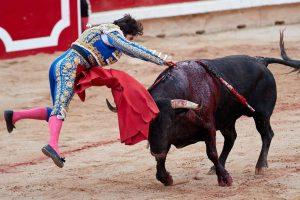 Con este estoconazo acabó Cayetano con su primero el pasado 12 de julio en Pamplona.
