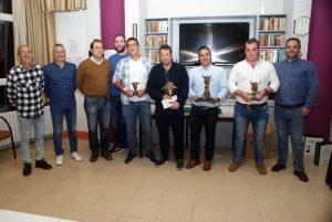 Representantes municipales de Cascante y los ganaderos premiados. Fotografía: Rafael Villafranca.