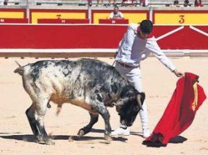 Natural de El Moro en la plaza de Pamplona, donde toreó hace unos meses, en una de las mañanas sanfermineras.