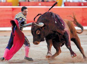 Rafaelillo, en su última actuación en Pamplona, el pasado 14 de julio, ante un 'mastodonte' de Miura.
