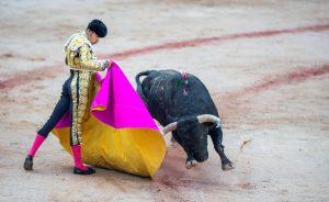 Verónica de Talavante a un toro de Núñez del Cuvillo, en 2017, en su última actuación en Pamplona.