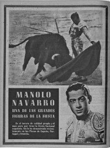 Manolo Navarro en la revista 'El Ruedo'.