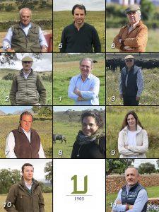 Los ganaderos de la nueva Junta Directiva de la UCTL.