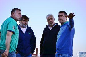 De izda. a dcha., los ganaderos Roberto Arriazu, Miguel Reta, Eulogio Mateo y Víctor Arriazu.