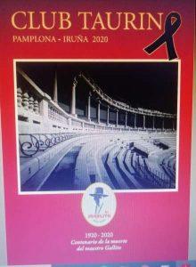 Portada de la revista del club taurino que presentará el miércoles el alcalde de Pamplona, Enrique Maya.