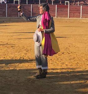 El diestro soriano Rubén Sanz mató en 2011, en la plaza de Tafalla, la corrida de Prieto de la Cal.