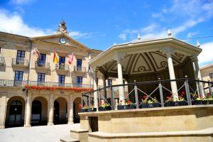 Fachada del Ayuntamiento de Tafalla. Fotografía: Galdona,