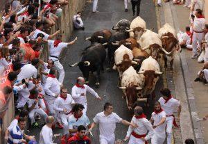 El encierro del año pasado con toros de Cebada de Gago.
