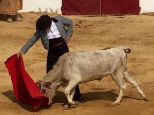 Derechazo de Morante en La Ruiz a una becerra de Tomás Prieto de la Cal.