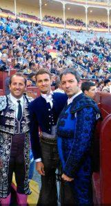 De izda. a dcha., Ismael Fernández, Raúl Martín Burgos y Paco Ramos, el año pasado en Las Ventas.