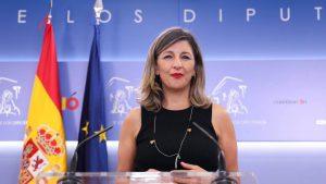 Yolanda Díaz, ministra podemita de Trabajo.