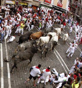 Último encierro celebrado en Pamplona. 14 de julio de 2019.