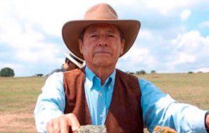 El matador de toros y también ganadero Gabino Aguilar.