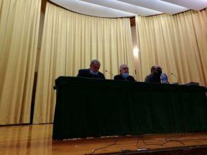 De izda. a dcha., Fernando de Benito, José María Sevilla y Mikel Coronado.